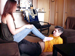 Platonic friends, socks, foot play