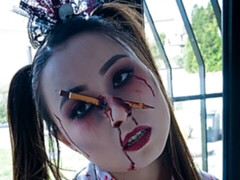 Zombie teen Halloween double team