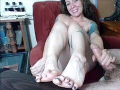 webcam unexperienced Footjob