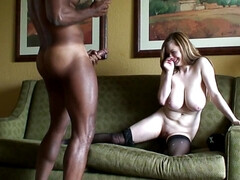 Amazing big naturals in homemade interracial footage: monster tits vs big black dick
